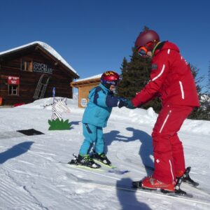 Maxime on private lesson at swiss ski school gryon