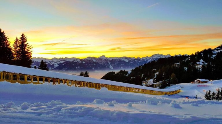 Tapis roulant de Frience zone débutant Ecole Suisse de ski de Gryon